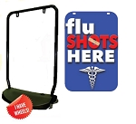 Single Sided Swing Sign Kit - FLU SHOTS HERE