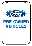 Swing Sign Replacement Single Sided Sign - FORD PRE-OWNED VEHICLES