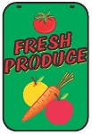 Swing Sign Replacement Single Sided Sign - FRESH PRODUCE
