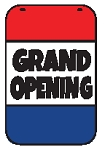 Swing Sign Replacement Single Sided Sign - GRAND OPENING