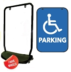 Single Sided Swing Sign Kit - HANDICAPPED PARKING