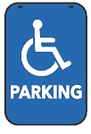 Swing Sign Replacement Double Sided Sign - HANDICAPPED PARKING