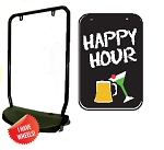 Single Sided Swing Sign Kit - HAPPY HOUR