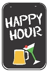 Swing Sign Replacement Double Sided Sign - HAPPY HOUR