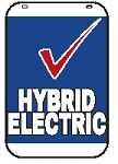 Swing Sign Replacement Single Sided Sign - HYBRID ELECTRIC