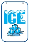 Swing Sign Replacement Double Sided Sign - ICE