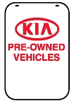 Swing Sign Replacement Single Sided Sign - KIA PRE-OWNED VEHICLES
