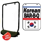 Single Sided Swing Sign Kit - KOREAN BAR-B-Q