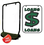 Single Sided Swing Sign Kit - LOANS