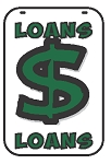 Swing Sign Replacement Double Sided Sign - LOANS