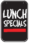 Swing Sign Replacement Single Sided Sign - LUNCH SPECIALS