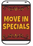 Swing Sign Replacement Single Sided Sign - MOVE IN SPECIALS