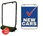 Double Sided Swing Sign Kit - NEW CARS