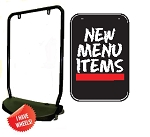 Single Sided Swing Sign Kit - NEW MENU ITEMS