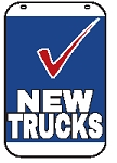 Swing Sign Replacement Single Sided Sign - NEW TRUCKS