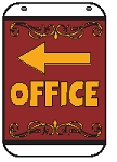 Swing Sign Replacement Single Sided Sign - OFFICE Arrow Left