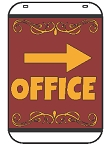 Swing Sign Replacement Single Sided Sign - OFFICE Arrow Right