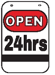 Swing Sign Replacement Single Sided Sign - OPEN 24hrs