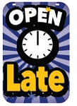 Swing Sign Replacement Single Sided Sign - OPEN LATE