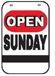 Swing Sign Replacement Single Sided Sign - OPEN SUNDAY