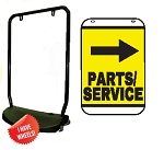 Singled Sided Swing Sign Kit - PARTS/SERVICE RIGHT ARROW