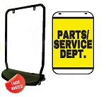Double Sided Swing Sign Kit - PARTS/SERVICE