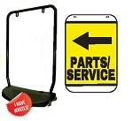 Single Sided Swing Sign Kit - PARTS/SERVICE LEFT ARROW