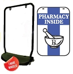 Single Sided Swing Sign Kit - PHARMACY INSIDE