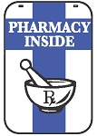 Swing Sign Replacement Single Sided Sign - PHARMACY INSIDE