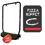 Single Sided Swing Sign Kit - PIZZA BUFFET