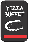 Swing Sign Replacement Single Sided Sign - PIZZA BUFFET