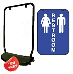 Single Sided Swing Sign Kit - RESTROOM