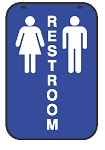 Swing Sign Replacement Double Sided Sign - RESTROOM
