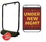 Single Sided Swing Sign Kit - UNDER NEW MGMT
