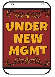 Swing Sign Replacement Single Sided Sign - UNDER NEW MGMT