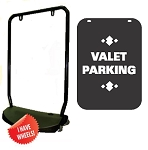 Single Sided Swing Sign Kit - VALET PARKING