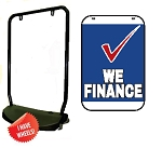 Single Sided Swing Sign Kit - WE FINANCE