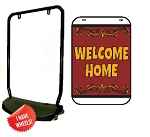 Single Sided Swing Sign Kit - WELCOME HOME
