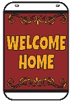 Swing Sign Replacement Single Sided Sign - WELCOME HOME