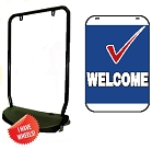 Double Sided Swing Sign Kit - WELCOME