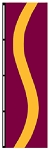 3' x 5' Wineberry-Yellow-Wineberry Ribbon Flag