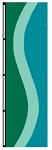 3' x 5' Emerald Green-Aqua-Parrot Ribbon Flag