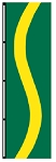 3' x 5' Emerald Green-Yellow-Emerald Green Ribbon Flag