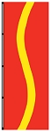 3' x 8' Red-FM Yellow-Red Ribbon Flag