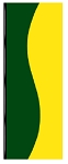3' x 8' Green & Yellow Wave Flag