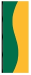 3' x 8' Green & Spanish Yellow Wave Flag