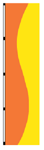 5' x 3' Orange & Yellow Vertical  Wave Flag