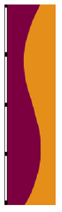 5' x 3' Wineberry & Gold Vertical Wave Flag
