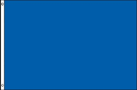 4' x 6' Solid Color Royal Blue Horizontal Nylon Flag