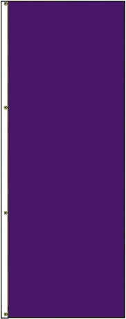 8' x 3' Solid Color Pansy Vertical Nylon Flag